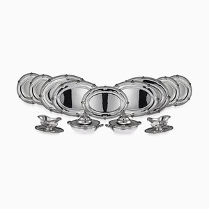 19th Century French Solid Silver Dinner Service by Maison Odiot, 1890, Set of 13