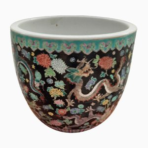 Chinese Jardiniere With Dragons and Flowers. 1920s