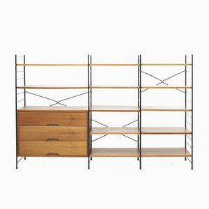 Mid-Century Freestanding Shelving System in Teak from WHB, Germany, 1950s