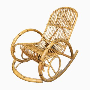 Vintage Bamboo Rocking Chair