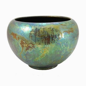 Turn of the Century Iridescent Ceramic Cachepot from Zsolnay