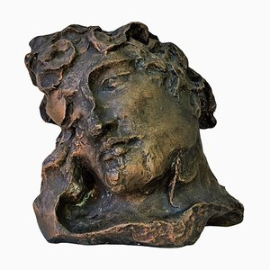 Vintage Apollo Head, Bronze