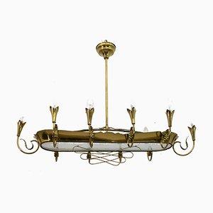 Mid-Century Modern Kronleuchter mit 12 Leuchten von Pietro Chiesa für Fontana Arte