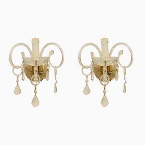 Murano Glass Sconces, Set of 2