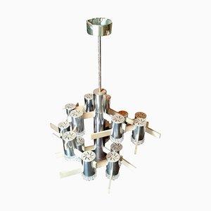Deckenlampe mit 16 Leuchten von Gaetano Sciolari für Sciolari, 1970er