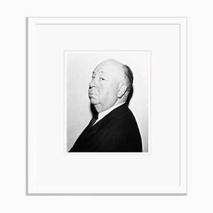 Alfred Hitchcock Archival Pigment Print Framed in White