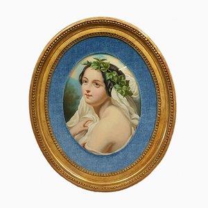 Romantic School Oil on Porcelain Painting, 1900s