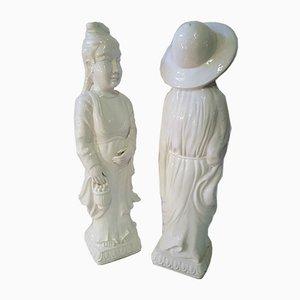 Esculturas femeninas chinas. Juego de 2