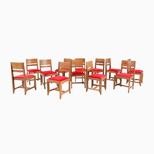 Art Deco Oak Amsterdam School Chairs by H. Wouda for H. Pander & Zn., 1924, Set of 12