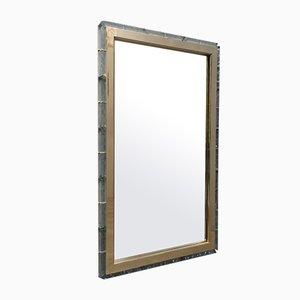 Murano Glass and Brass Midcentury Wall Mirror, 1970
