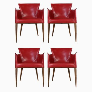 Vela Armchairs by Carlo Bartoli for Matteo Grassi, 1970s, Set of 4