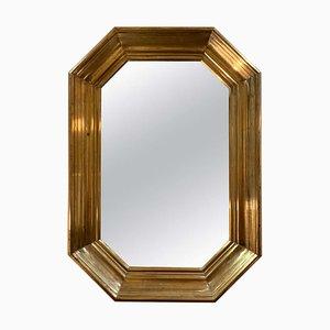 Midcentury Brass Mirror, 1950s