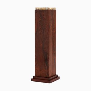 Art Deco Rosewood and Marble Pedestal, 1930s
