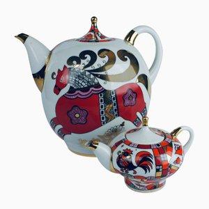 Vintage Teekanne & Kleiner Topf von Lomonosov für Lomonosov, 2er Set