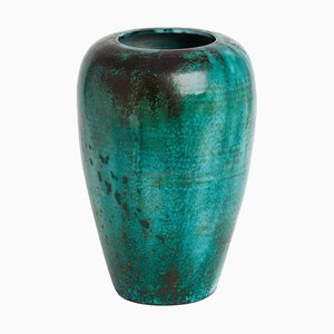 Very Large Green Vase by Felix Gete for Primavera, 1930s