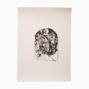 Ibrahim Kodra, Butterflies Lithograph, 1970s