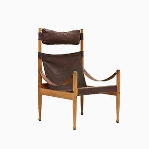 High Back Safari Chair by Erik Wørts for Niels Eilersen