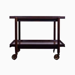 Rosewood Serving Trolley by Poul Hundevad for Hundevad & Co., 1960s