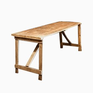 English Country Farm Folding Table In Pine