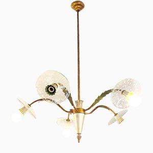 Italienische Deckenlampe, 1940er