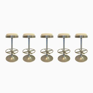 Vintage Swivel Stools, Set of 5