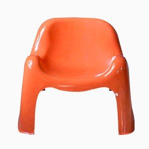 Silla Toga de Sergio Mazza para Artemide, años 70