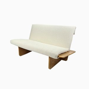 Mid-Century Scandinavian 2-Seater Bouclé Sofa,1960s