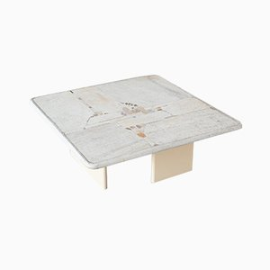 White Square-Shaped Coffee Table by Paul Kingma, 1999