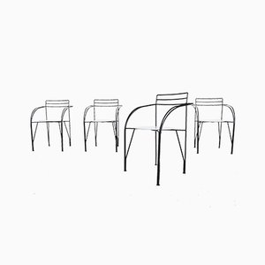 Silver Moon Dining Chairs by Pascal Mourgue for Fermob, 1980s, Set of 4