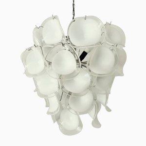 Glass Chandelier by Gino Vistosi for Vistosi, 1960s