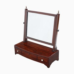 Antique Georgian C1805 Mahogany Dressing Table and Mirror