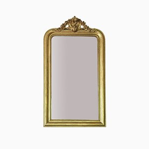 Large 19th Century Gilt Overmantle Mirror