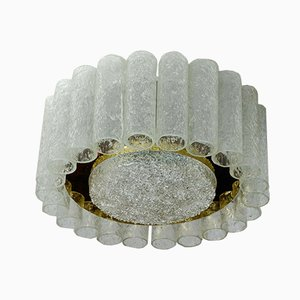 Ceiling Lamp with 22 Frosted Glass Tubes from Doria Leuchten, 1960s