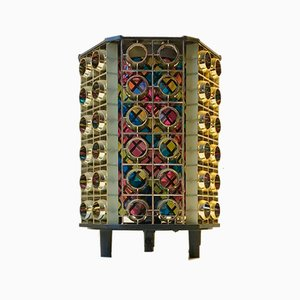 Vintage Flower Power Table Lamp from Movie-Lampen, 1970s