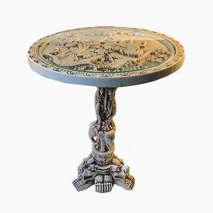 Vintage Opium Tisch in Elfenbein Optik, 1960er