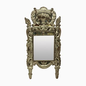 18th-Century Italian Silver Leaf Mirror
