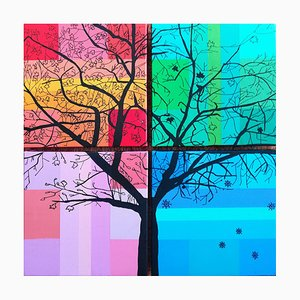 Nicoletta Belli, The Seasons Tree, 2019, Paintings, Set of 4