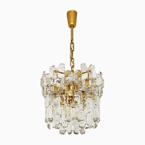 Austrian Ice Glass Chandelier by J. T. Kalmar for Franken KG, 1960s
