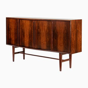 Mid-Century Bow-Front Rosewood Sideboard by H.P. Hansen, 1960s