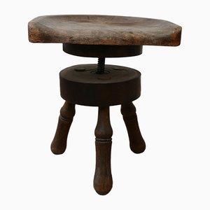 Antique Scandinavian Adjustable Stool
