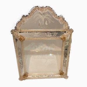 Specchio veneziano in vetro di Murano