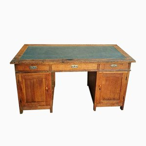 Antique Oak Desk With Drawers