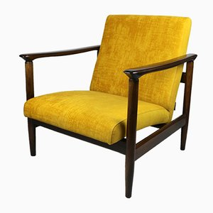 Yellow Gold Chameleon Armchair by Edmund Homa, 1970s