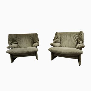 Porto Venere Lounge Chairs by Vico Magistretti for Cassina, 1980s, Set of 2