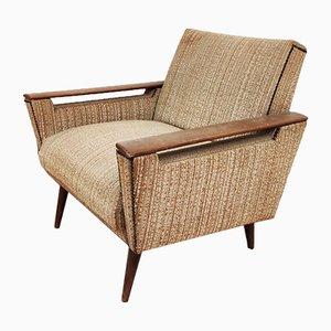 Sessel aus Holz und Stoff, 1950er