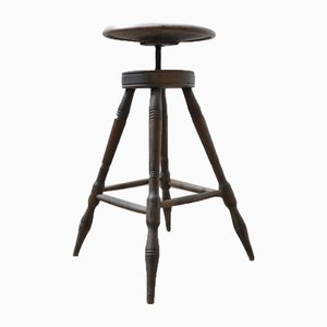 Antique French Artist's Adjustable Stool