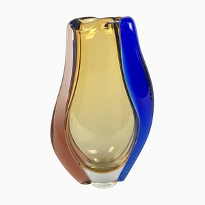 Glass Vase by Hana Machovska for Mstisov Glassworks, 1960s