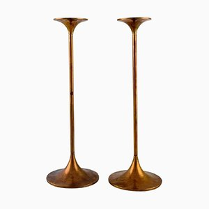 Hi-Fi Candlesticks in Brass by Max Brüel for Torben Ørskov, 1960s, Set of 2