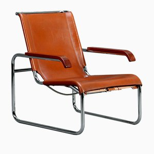 Cantilever Leather S35 Lounge Chair from Thonet