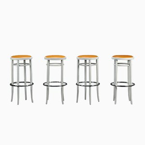 Beech and Leather PH 204 Bar Stool from Thonet, 1980s